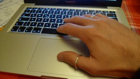 My hand…
